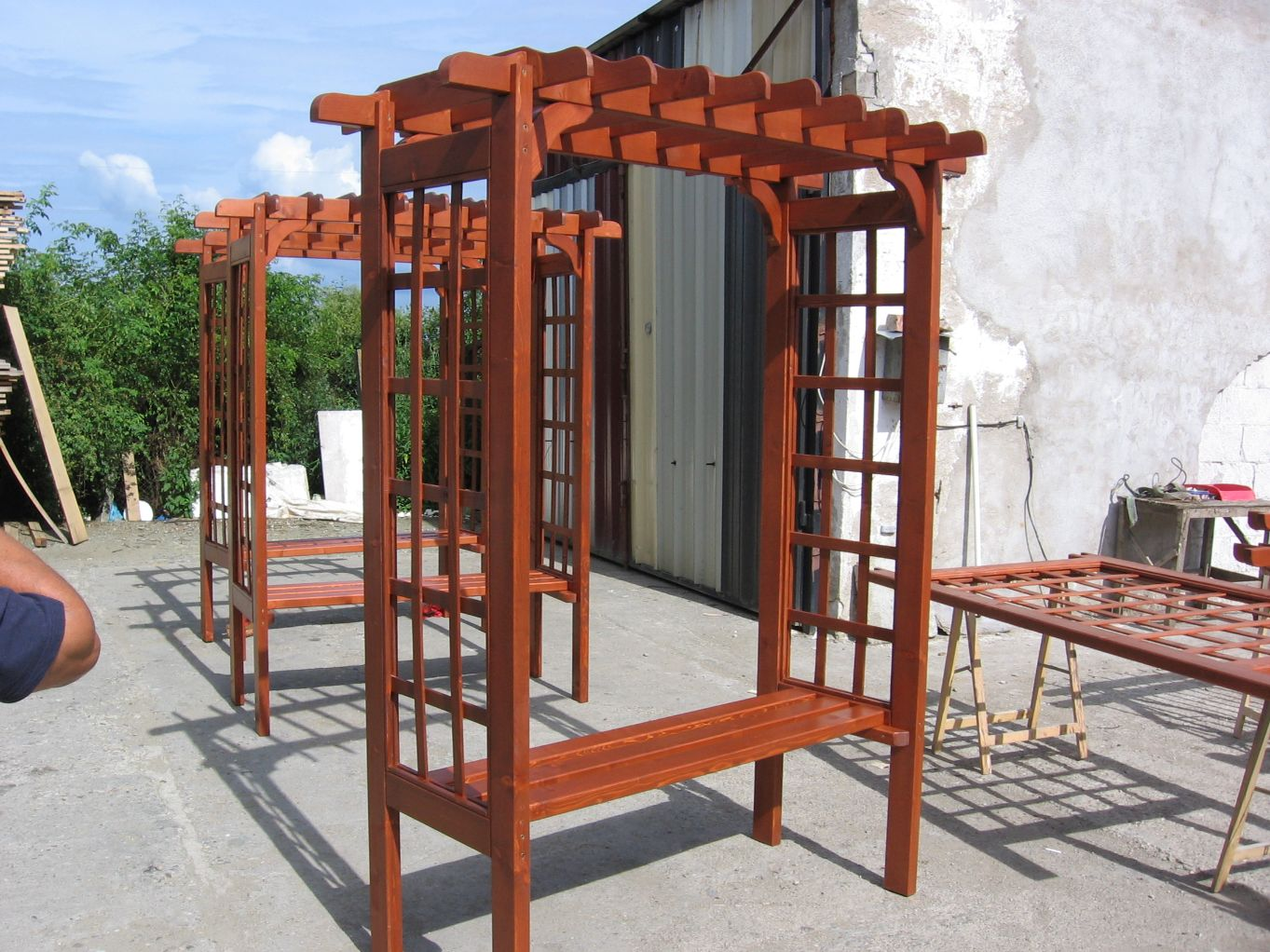 bancuta de gradina din lemn